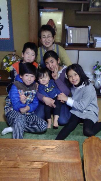 愛する妻と孫たち