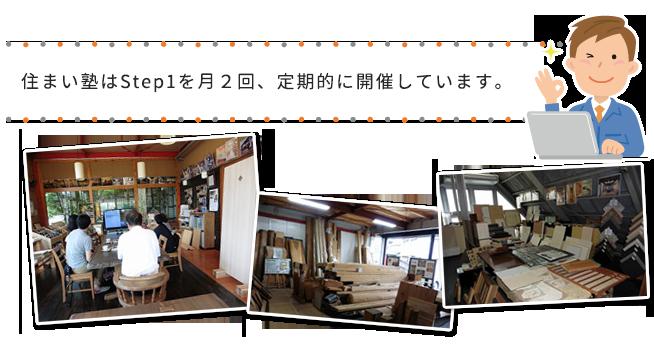 住まい塾はStep1を月2回、定期的に開催しています。